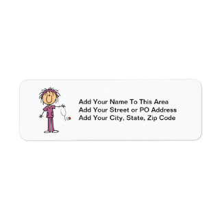White Female Stick Figure Nurse T-shirts and Gifts Label