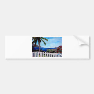 White Fence at English Harbour Antigua West Indies Bumper Stickers