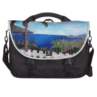 White Fence at English Harbour Antigua West Indies Laptop Computer Bag