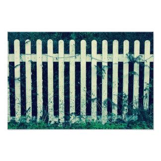 White Fence Photography Print Photo Art