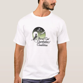 White Feral cat Caretakers Logo No Border T-Shirt
