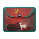 White Ferret MacBook Peacock sleeve - Red Passion Sleeves For MacBooks