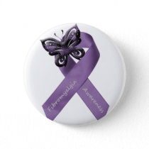 White Fibromyalgia Button