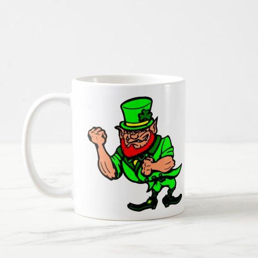White Fighting Irish Man Classic White Coffee Mug