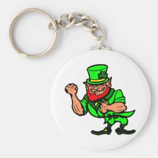 White Fighting Irish Man Keychain
