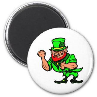 White Fighting Irish Man Magnet