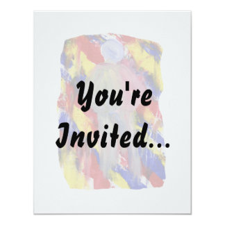 White Figure in front of red yellow blue smears Custom Invites