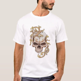 white filigree skull T-Shirt