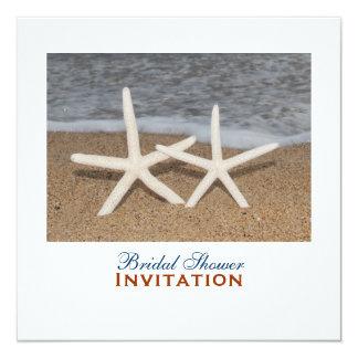 White Finger Starfish Bridal Shower Card