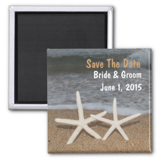 White Finger Starfish Save The Date Magnet