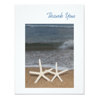 White Finger Starfish Thank You Card