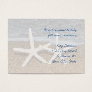 White Finger Starfish Wedding Reception Cards
