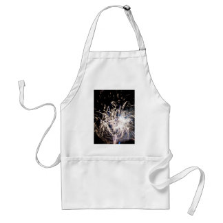 White fire adult apron