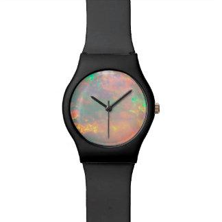 White Fire Opal Dial Wrist Watch
