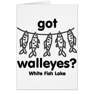 white fish got walleye greeting cards
