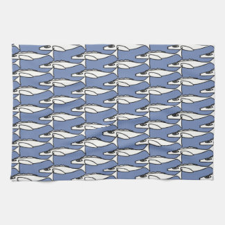 White fish (tile) kitchen towel