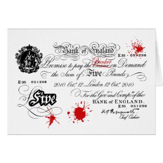 White Fiver Card