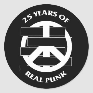 White Flag  25 year peace sign sticker sheet