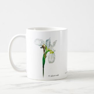 White Flag Iris 11 oz Mug