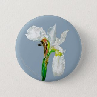 White Flag Iris Button