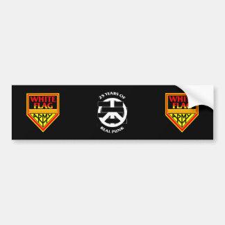 White Flag Vinyl Bumper sticker