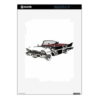 White Flame Classic Car iPad 2 Decal