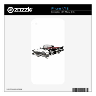 White Flame Classic Car iPhone 4 Decals