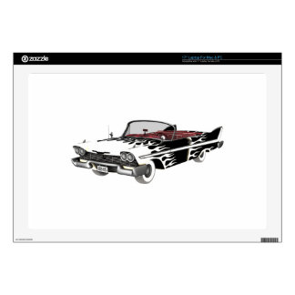 White Flame Classic Car Laptop Skin