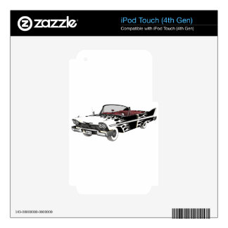 White Flame Classic Car Skin For iPod Touch 4G