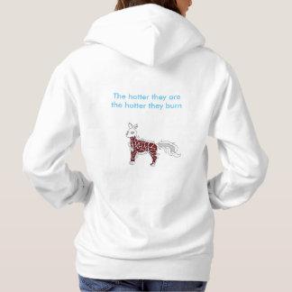 White Flame dog hoodie
