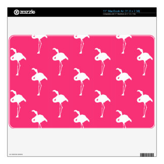 White Flamingo on Neon Hot Pink Decal For MacBook Air