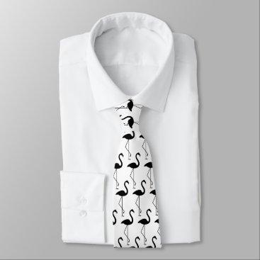 Beach Themed White Flamingo Tie