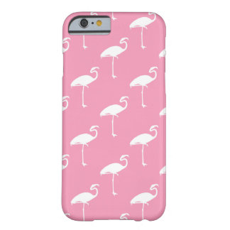 White Flamingo Tropical Flamingos Pink Background Barely There iPhone 6 Case
