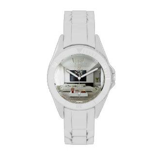 White Flat Sports watch