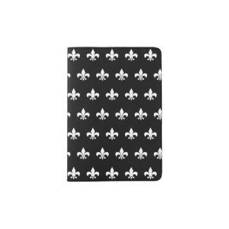 White Fleur De Lis Passport Holder