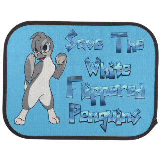 White Flippered Penguin Car Mat
