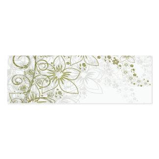 White Floral Art Mini Business Card