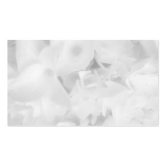 White Floral Blank Wedding Place Cards Double-Sided Standard Business Cards (Pack Of 100)