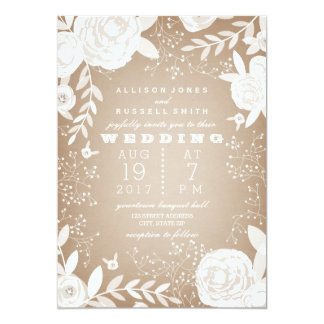 White Floral Border Cardstock Inspired Card
