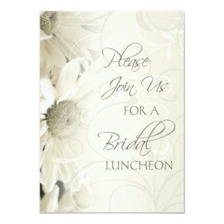 "White Floral Bridal Luncheon Invitation Cards 5"" X 7"" Invitation Card"