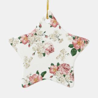 White Floral Ceramic Ornament