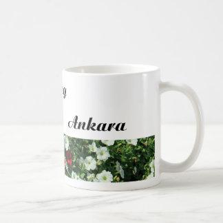 White floral City Mug 'Good Morning Ankara'
