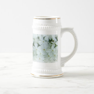 white floral customizable Mug