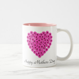 White Floral Heart Mothers Day Mug