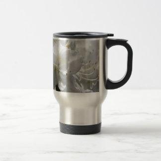 White Floral mug