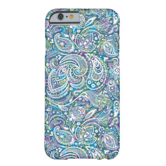 White Floral Paisley And Colorful Background Barely There iPhone 6 Case
