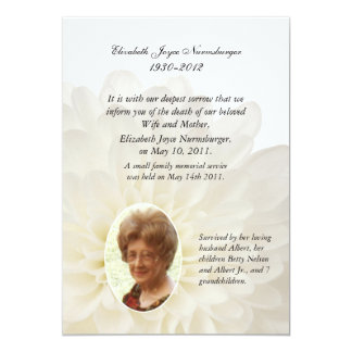 Photo Death Announcement Cards | Zazzle