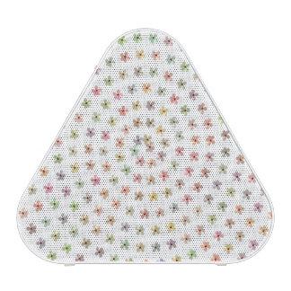 White Floral Pieladium Portable Bluetooth Speaker Speaker