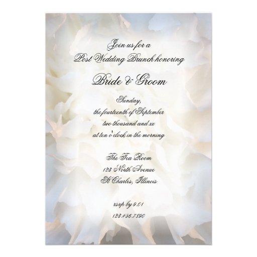 White Floral Post Wedding Brunch Invitation