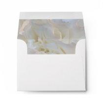 White Floral RSVP Response Card Envelope